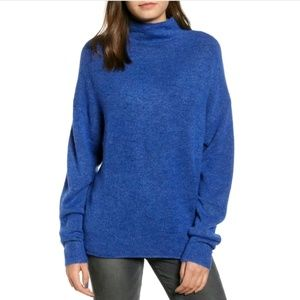 Leith Cozy Mock Neck Pullover Lightweight Sweater